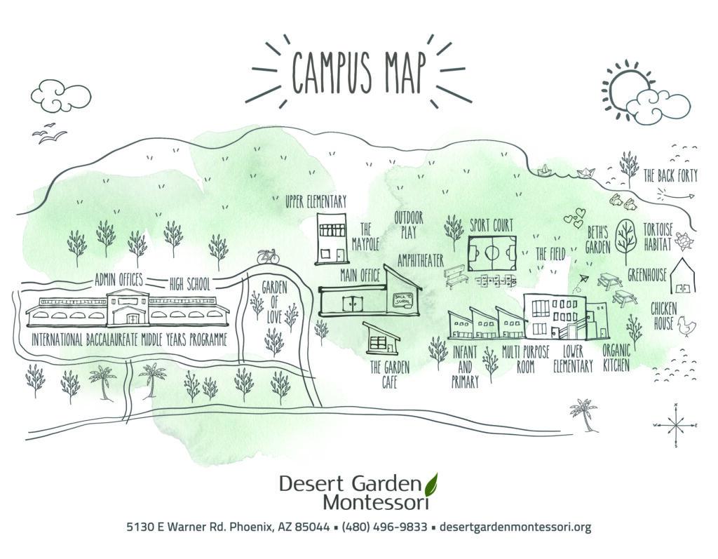 Desert Garden Montessori Campus Map